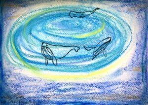 Whales in the Ocean Sky